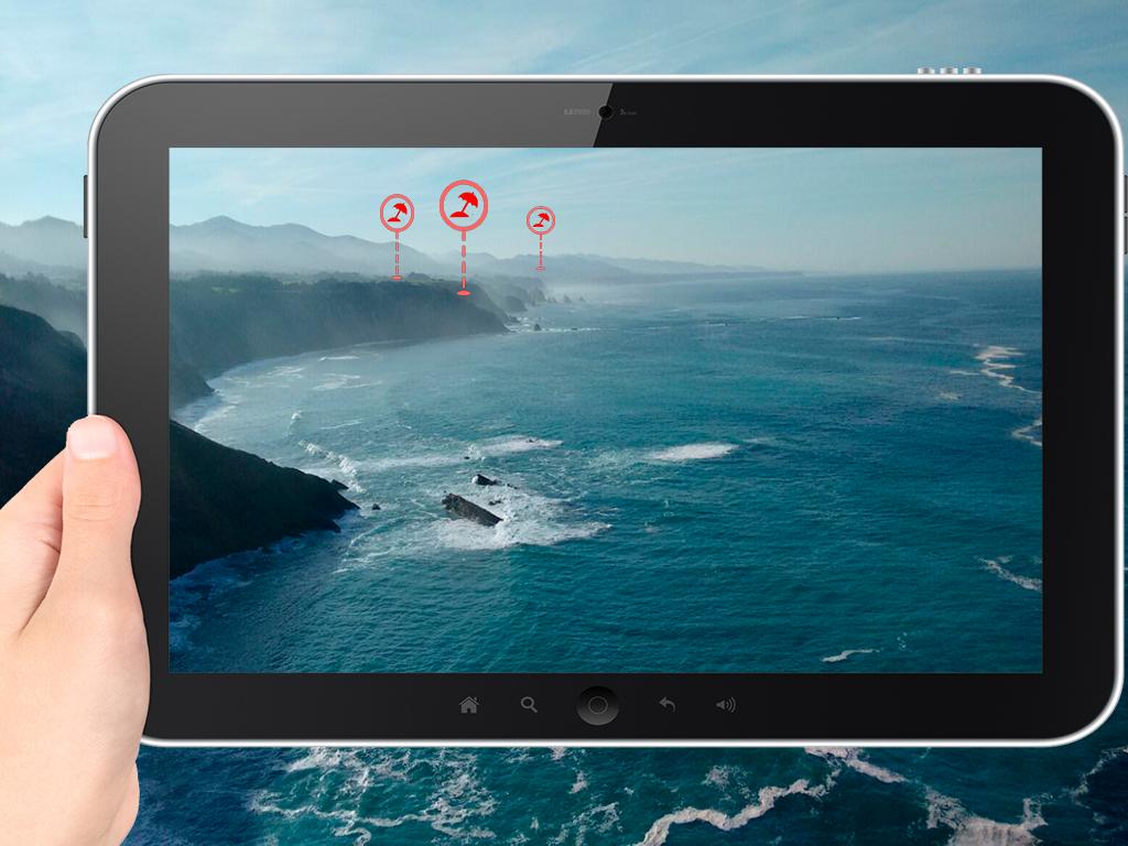 Vista con realidad aumentada desde Cabo Vidio