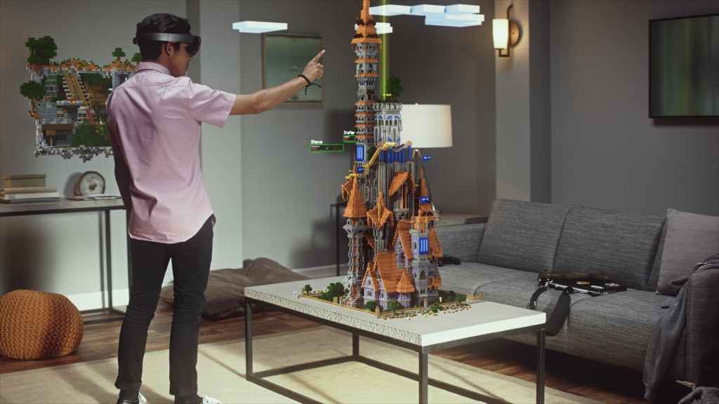 Ejemplo de las gafas Hololens de Microsoft